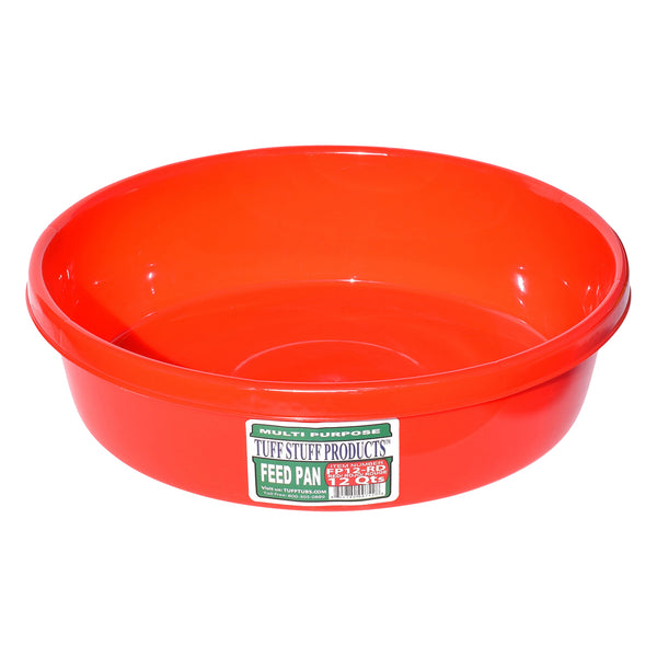 Tuff Stuff feed pan 12 Qts (RED)