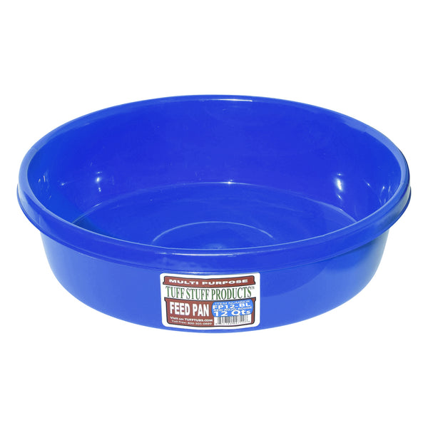 Tuff Stuff feed pan 12 Qts (BLUE)