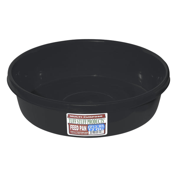 Tuff Stuff feed pan 12 Qts (BLACK)