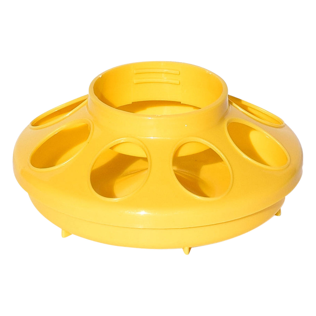 Tuff Stuff Enclosed Poultry Feeder 2 Lbs Bases (Yellow) - Plastic Poultry Feeders Tuff Stuff - Canada