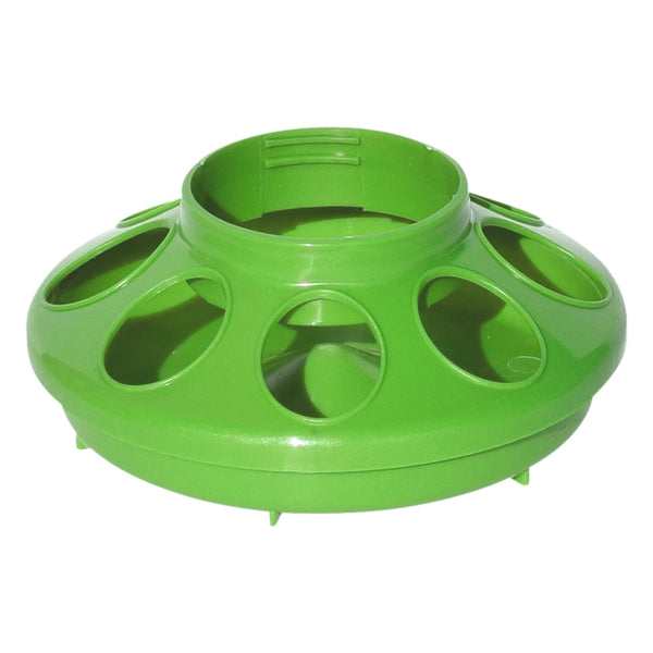 Tuff Stuff Enclosed Poultry Feeder 2 Lbs Bases (Lime) - Plastic Poultry Feeders Tuff Stuff - Canada