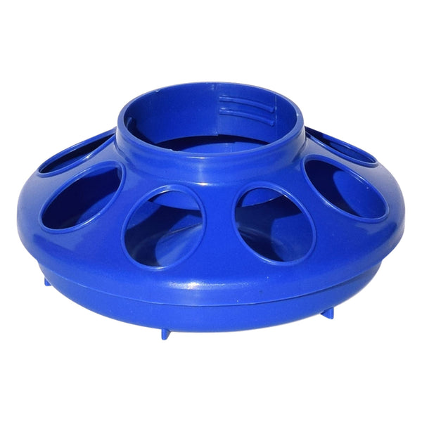 Tuff Stuff Enclosed Poultry Feeder 2 Lbs Bases (Blue) - Plastic Poultry Feeders Tuff Stuff - Canada