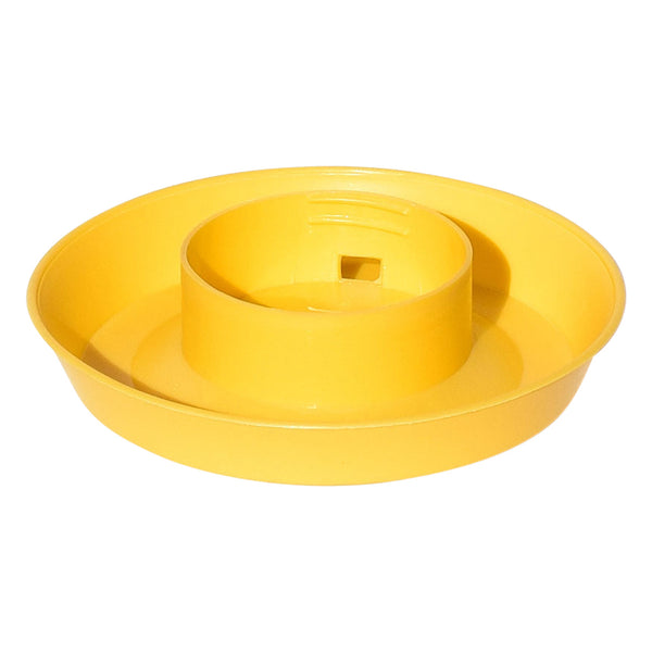 Tuff Stuff Enclosed Poultry Drinker 1 Qts Base (Yellow) - Poultry Feeders Drinkers Tuff Stuff - Canada