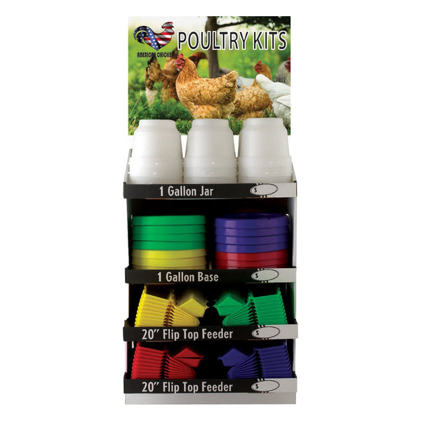 Tuff Stuff Poultry Kit With Display Board Gallon And Ground Feeders (156 Pieces) - Poultry Feeders Drinkers Tuff Stuff - Canada