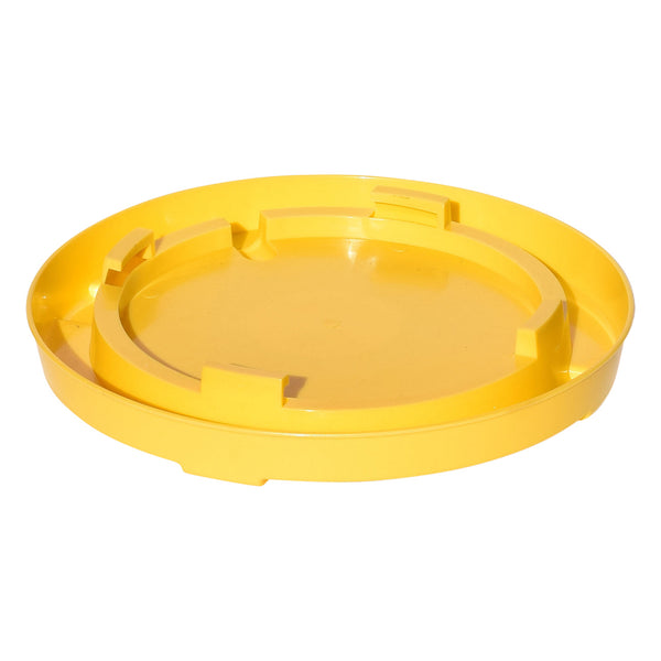 Tuff Stuff Enclosed Poultry Drinker Gallon Base (Yellow) - Poultry Feeders Drinkers Tuff Stuff - Canada