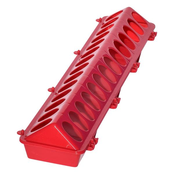 Tuff Stuff Poultry Ground Feeders 20 (Red) - Poultry Feeders Drinkers Tuff Stuff - Canada