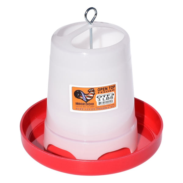 Tuff Stuff Poultry Open Top Feeder - 3Lbs - Poultry Feeders Drinkers Tuff Stuff - Canada