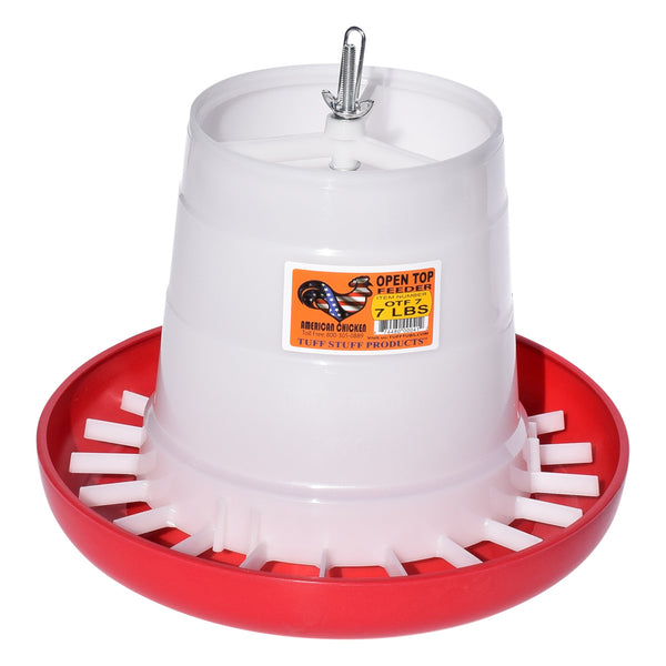 Tuff Stuff Poultry Open Top Feeder - 7Lbs - Poultry Feeders Drinkers Tuff Stuff - Canada