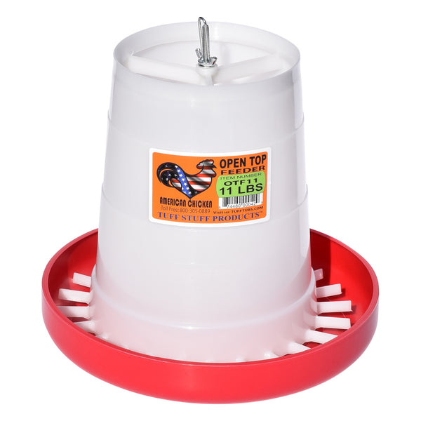 Tuff Stuff Poultry Open Top Feeder - 11Lbs - Poultry Feeders Drinkers Tuff Stuff - Canada