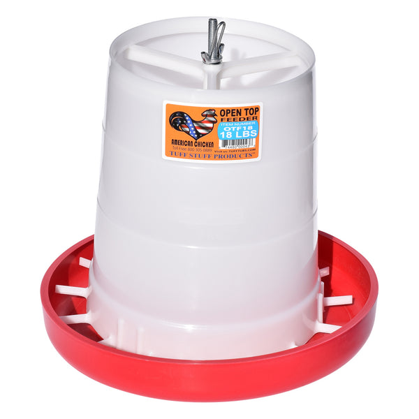 Tuff Stuff Poultry Open Top Feeder - 18Lbs - Poultry Feeders Drinkers Tuff Stuff - Canada