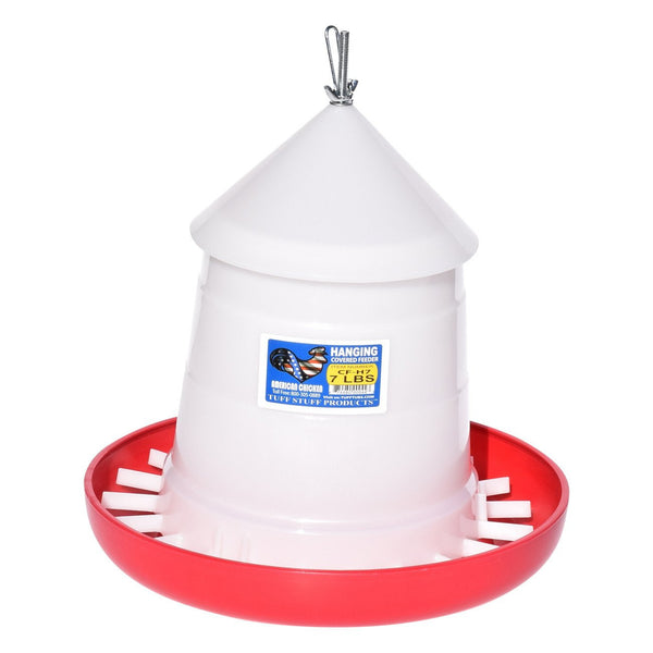 Tuff Stuff Poultry Hd Cover Feeder / Hanger - 7Lbs - Poultry Feeders Drinkers Tuff Stuff - Canada