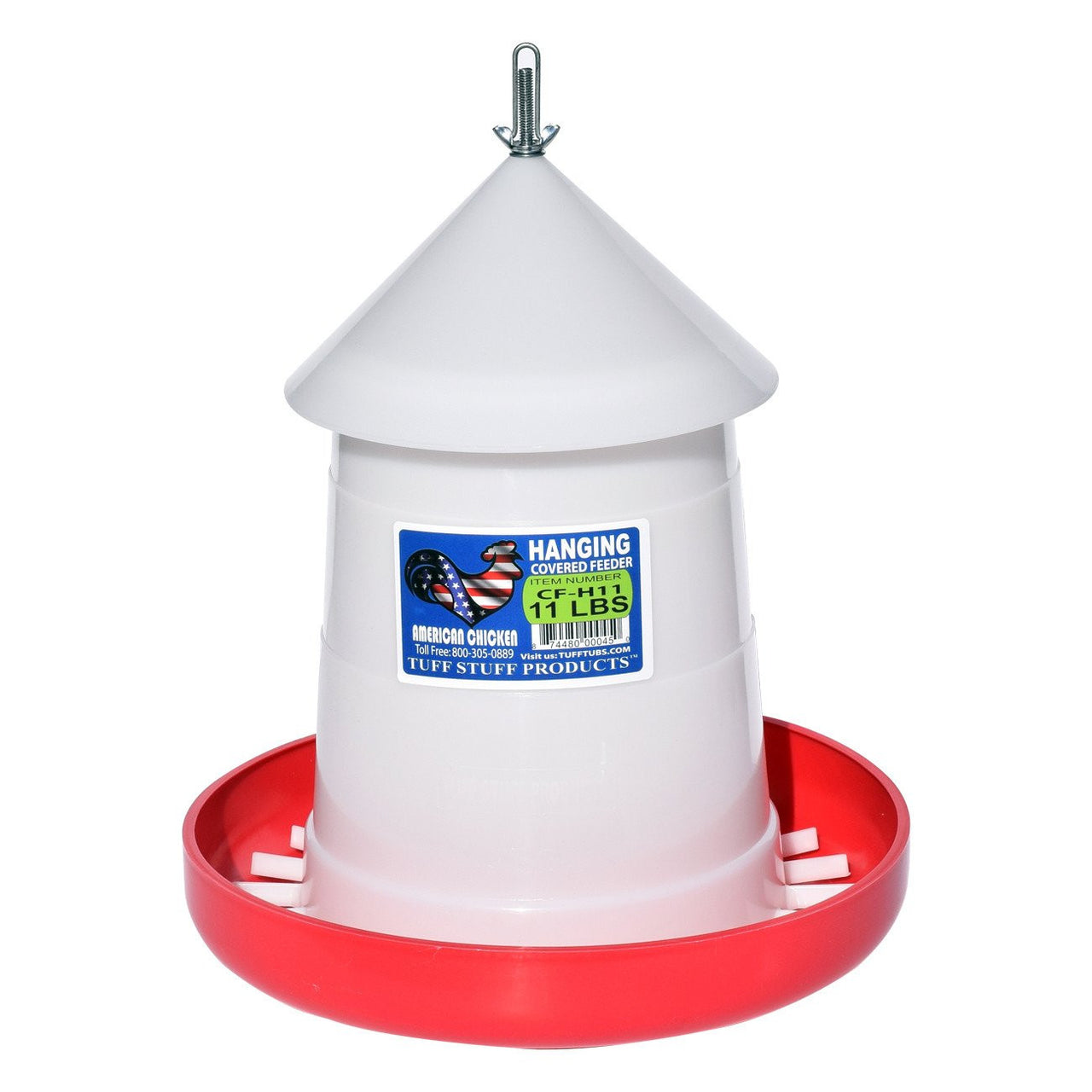Tuff Stuff Poultry Hd Cover Feeder / Hanger - 11Lbs - Poultry Feeders Drinkers Tuff Stuff - Canada