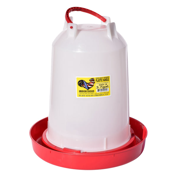 Tuff Stuff Poultry Open Nest Drinker Plastic Handle - 3.7Gal - Poultry Feeders Drinkers Tuff Stuff - Canada
