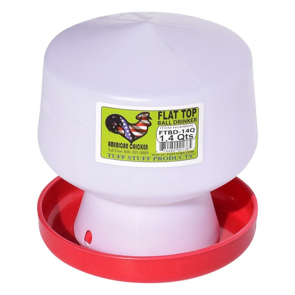 Tuff Stuff Poultry Flat Top Ball Drinker - 1.4Qts - Poultry Feeders Drinkers Tuff Stuff - Canada