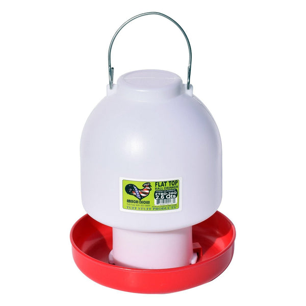 Tuff Stuff Poultry Flat Top Ball Drinker - 2.6Qts - Poultry Feeders Drinkers Tuff Stuff - Canada