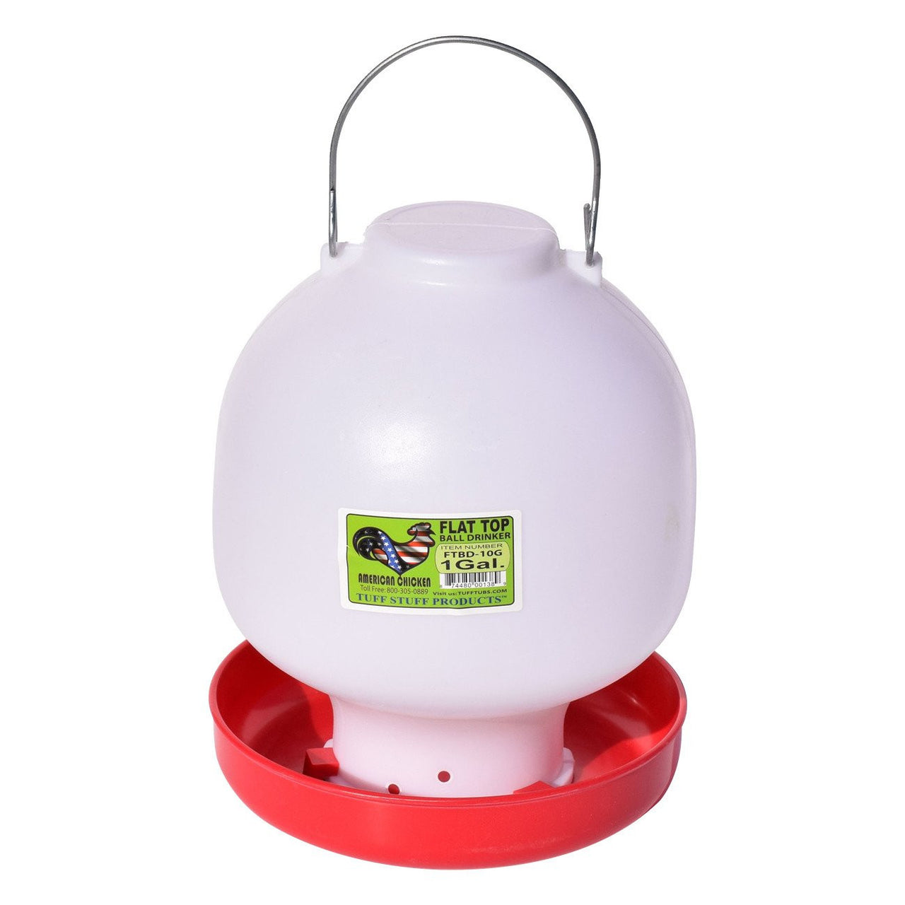 Tuff Stuff Poultry Flat Top Ball Drinker - 1Gal - Poultry Feeders Drinkers Tuff Stuff - Canada
