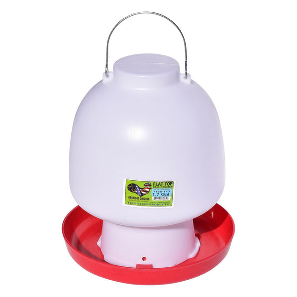 Tuff Stuff Poultry Flat Top Ball Drinker - 1.7Gal - Poultry Feeders Drinkers Tuff Stuff - Canada