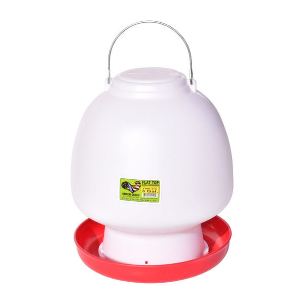 Tuff Stuff Poultry Flat Top Ball Drinker - 3.1Gal - Poultry Feeders Drinkers Tuff Stuff - Canada