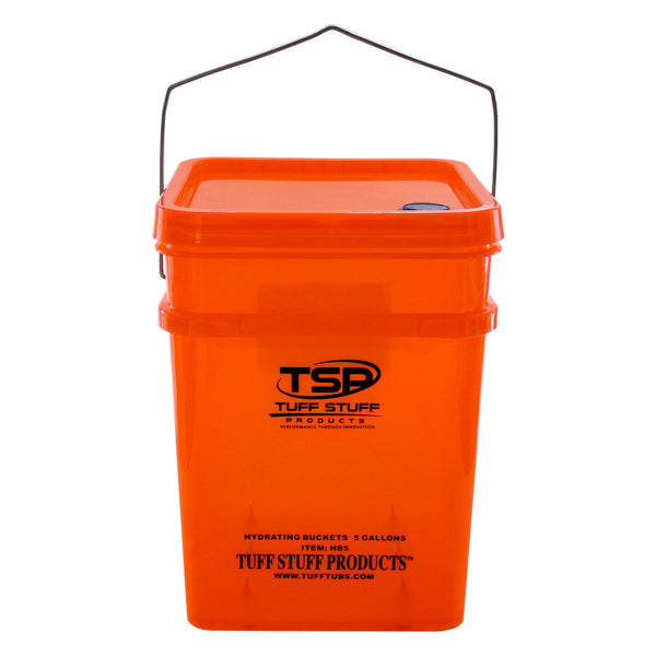Tuff Stuff poultry hydrating bucket - 5gal w/ 6 mini nipples
