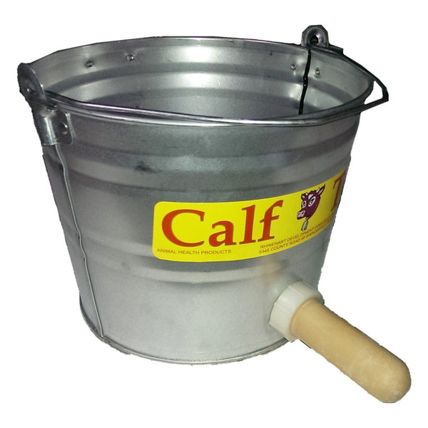 Calfteria Galvanized Pail With Nipple 8 Quart - Nursing Weaning And Fluid Feeding Calfteria - Canada