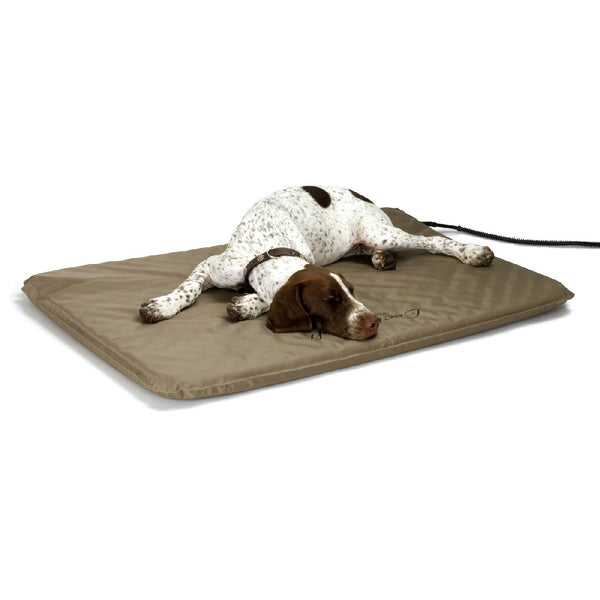 K&h Pet Products Lectro-Soft Outdoor Heated Bed & Cover Chocolate/tan (Large-80W) - Lectro-Soft Outdoor Heated Pad & Cover K&h Pet Products