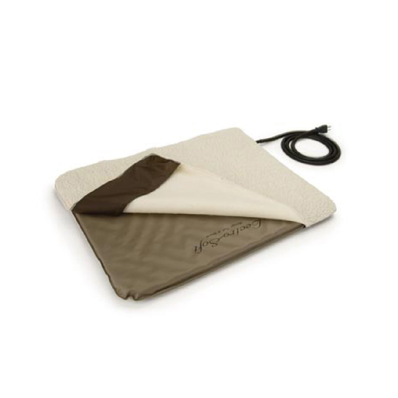 K&h Pet Products Lectro-Soft Outdoor Heated Bed & Cover Chocolate/tan (Medium-60W) - Lectro-Soft Outdoor Heated Pad & Cover K&h Pet Products