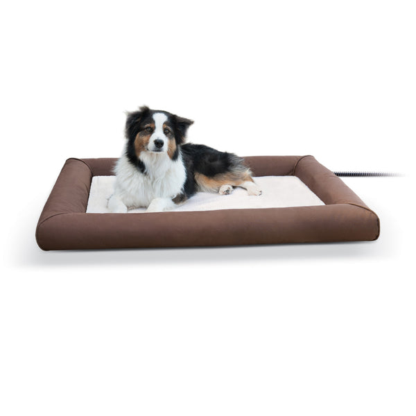 K&h Pet Products Deluxe Lectro-Soft & Cover (Large-80W) - Deluxe Lectro-Soft Outdoor Heated Bed Tan K&h Pet Products - Canada