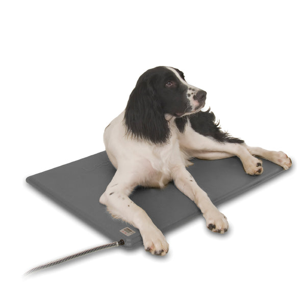 K&h Pet Products Deluxe Lectro-Kennel & Cover Heated Pad (Large-80W) - Deluxe Lectro-Kennel Outdoor Heated Pad Black K&h Pet Products -