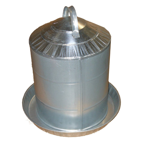 Millside Galvanized Poultry Fountain 5 Gallon - Poultry Waterers Metal Millside - Canada