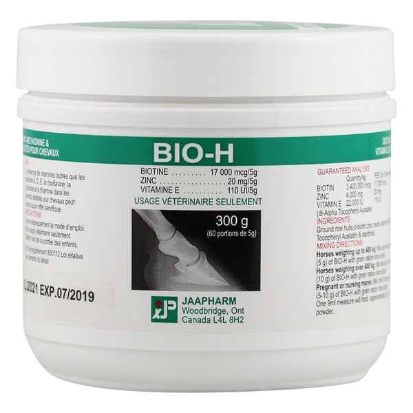 Jaapharm Bio-H Powder 300G - Equine Supplements Jaapharm - Canada