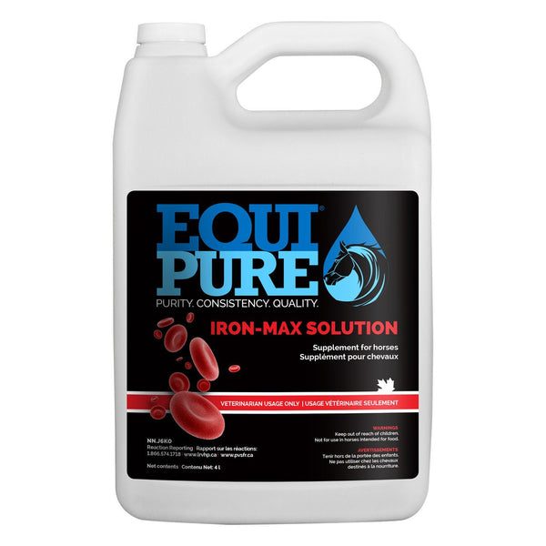 Equipure Iron Max Solution 4L - Equine Supplements Equipure - Canada