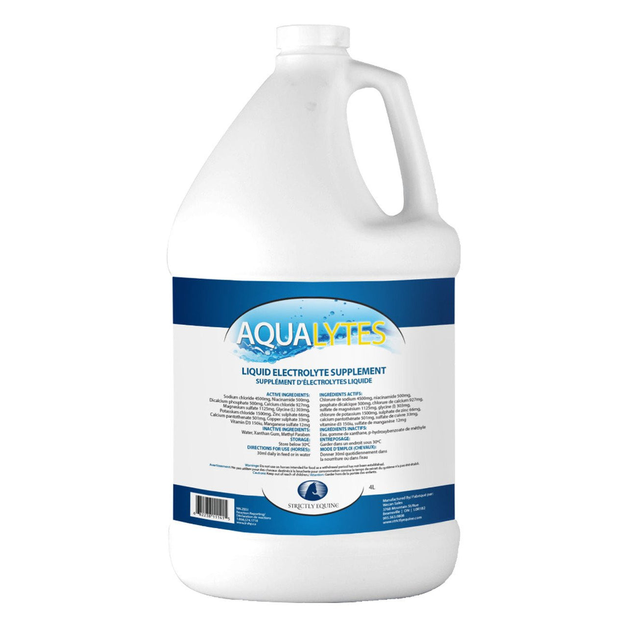 Strictly Equine Aqua Lytes 3.8L - Electrolytes Strictly Equine - Canada