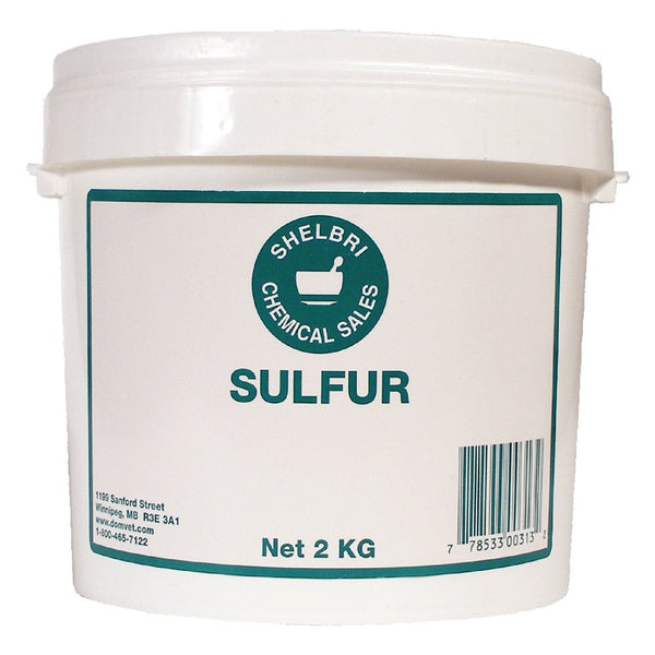 Shelbri Sulfur 2Kg - Equine Supplements Shelbri - Canada