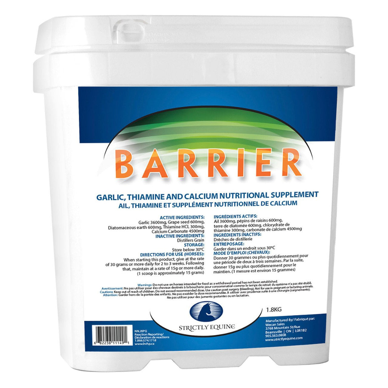 Strictly Equine Barrier 1.8Kg - Equine Supplements Strictly Equine - Canada