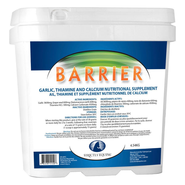 Strictly Equine Barrier 4.54Kg - Equine Supplements Strictly Equine - Canada