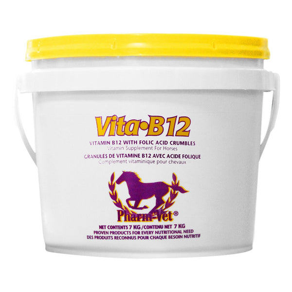 Pharm Vet Vita B12 With Folic Acid Crumbles 7Kg - Equine Supplements Pharm Vet - Canada