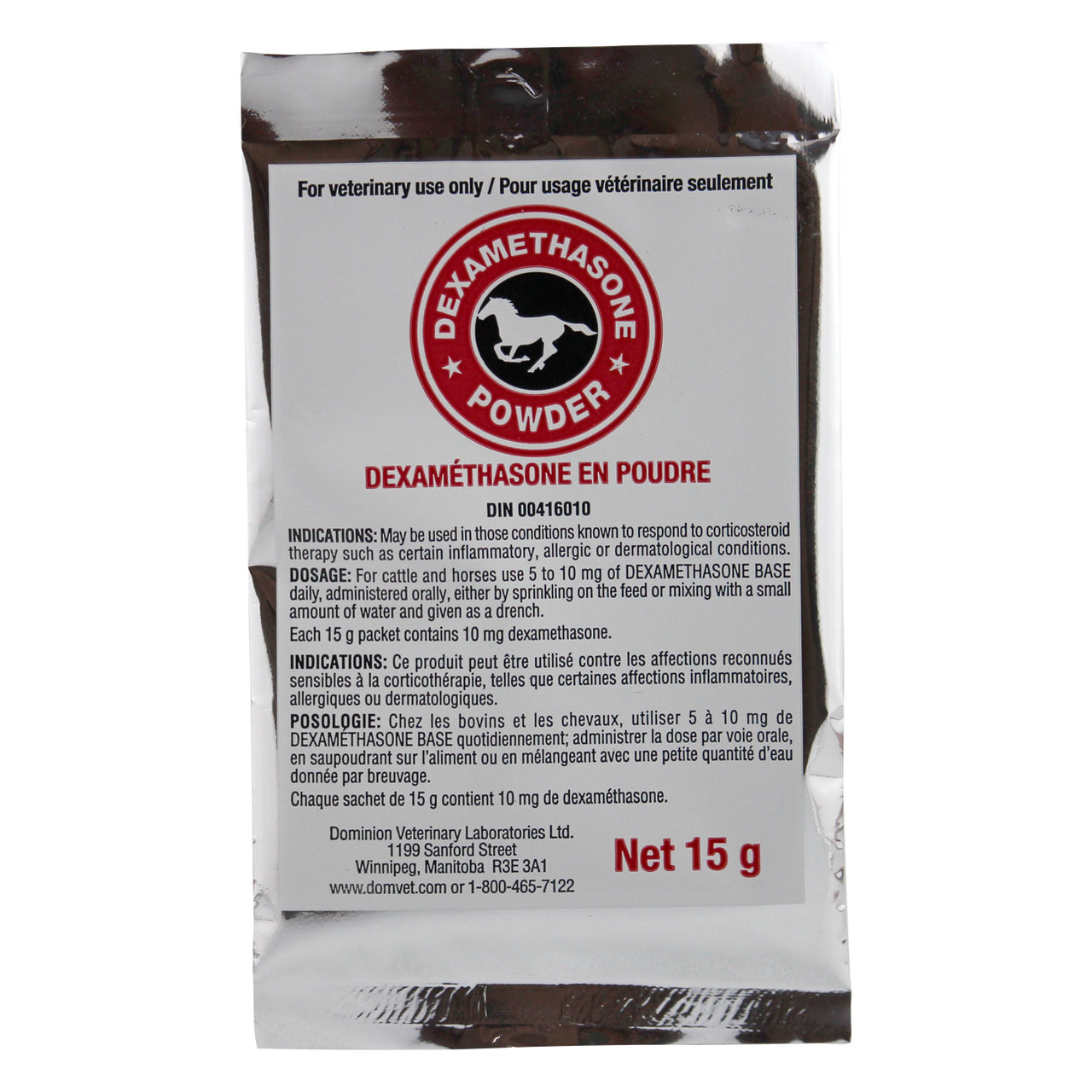 Pharm Vet Dexamethasone Powder (10Mg/15G Pkg.) 15G - Pharmaceuticals Pharm Vet - Canada