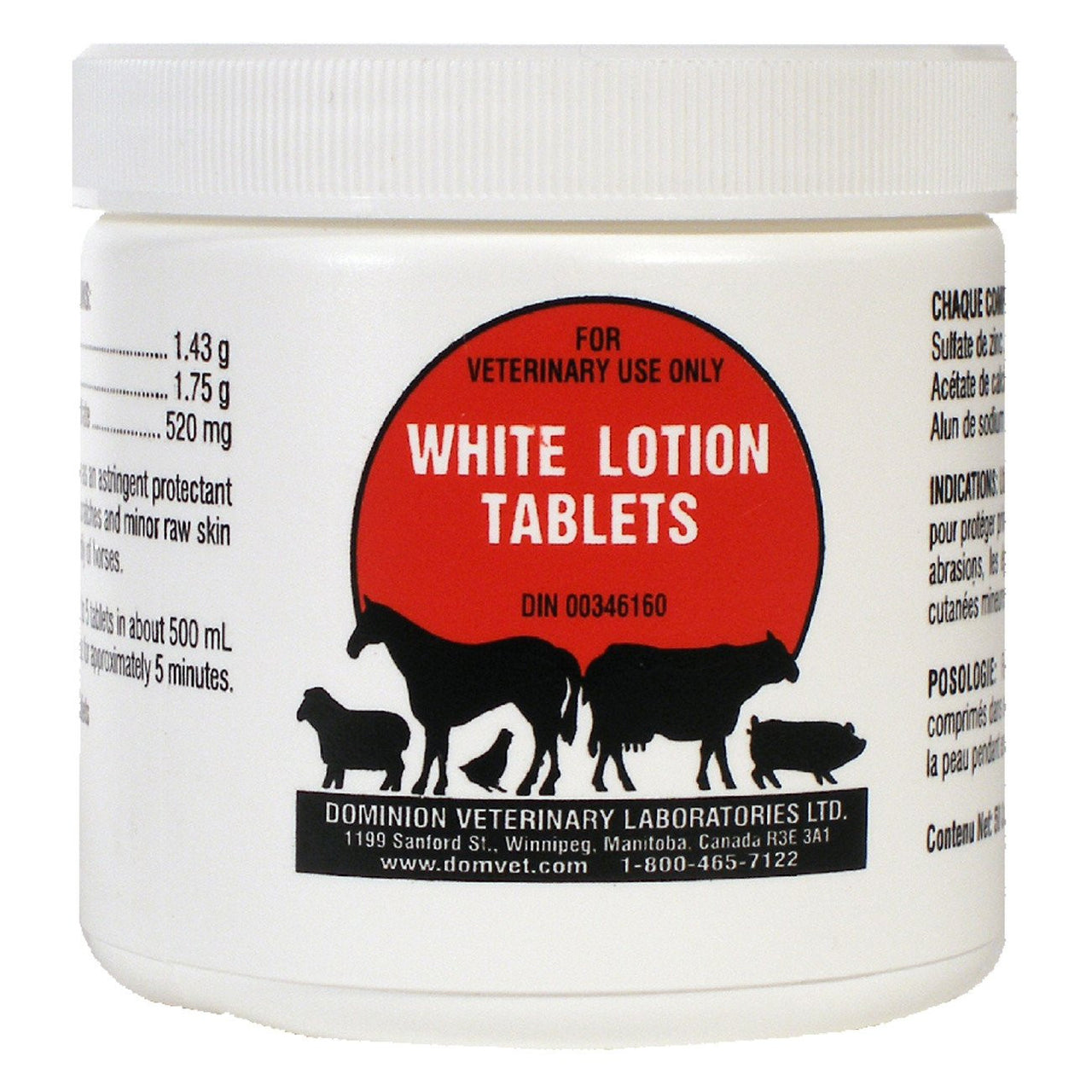 Dvl White Lotion Tablets (50 Per Jar) - Pharmaceuticals Dvl - Canada
