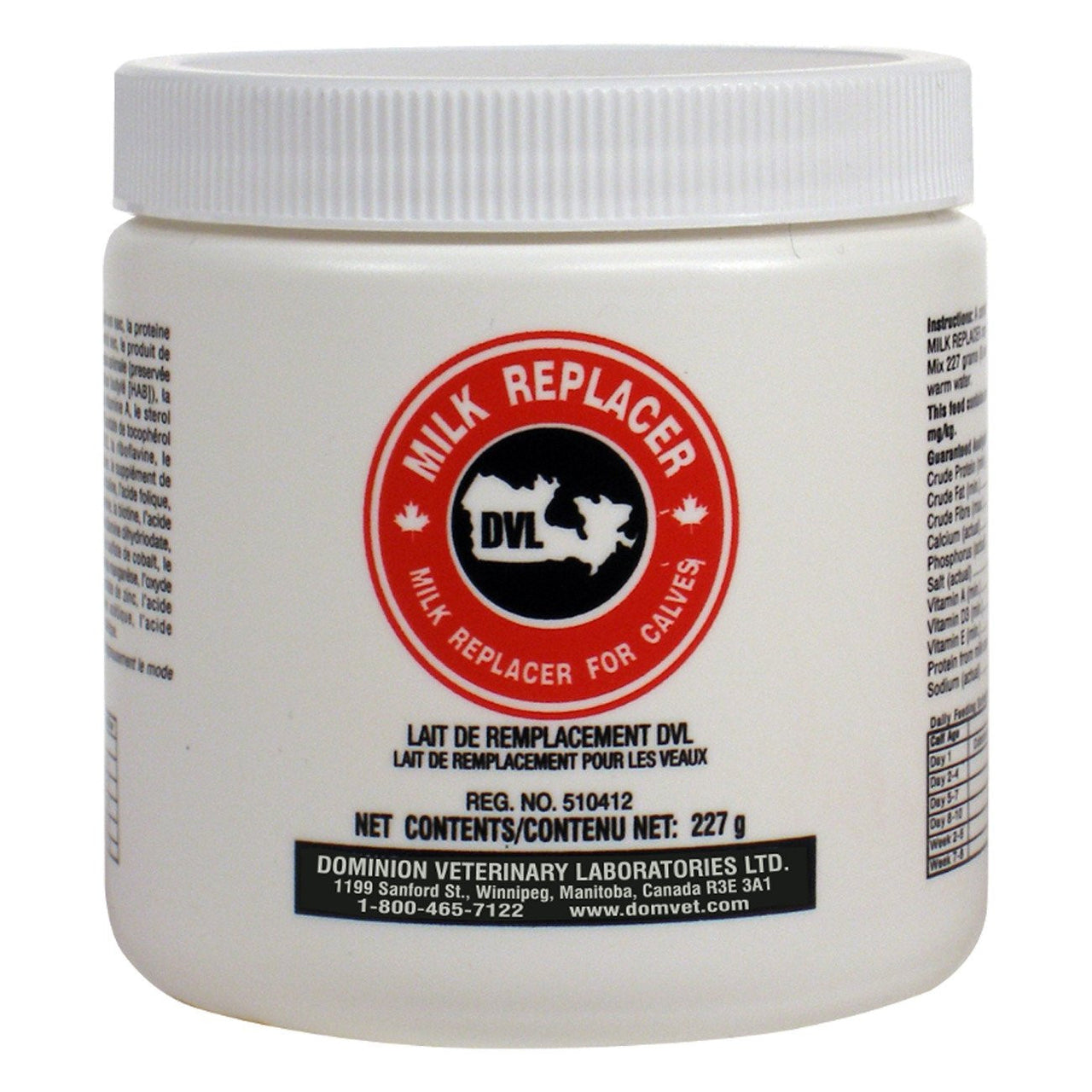 Dvl Milk Replacer 227G - Pharmaceuticals Dvl - Canada