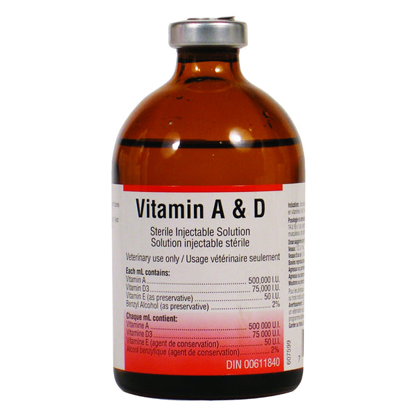 Dvl Vitamin A & D Injectable 100Ml - Pharmaceuticals Dvl - Canada