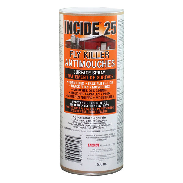 Incide 25 Fly Killer 500Ml - 6 Units - Parasiticides Incide - Canada