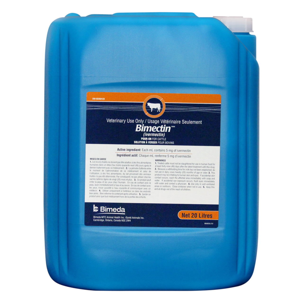 Bimectin Pour-On 20L - Parasiticides Bimeda - Canada