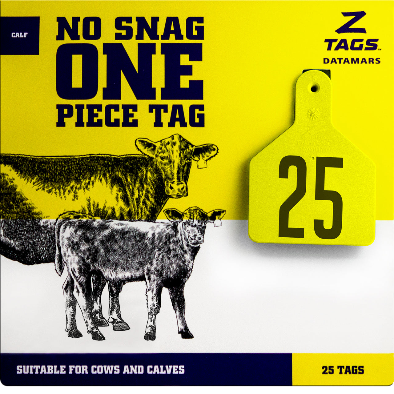 Z Tags 1 piece calf printed (25 units-package)