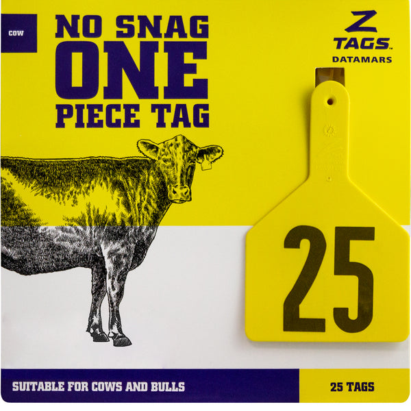 Z Tags 1 piece cow printed (25 units-package)