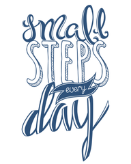 Small steps every day hand lettering self care
