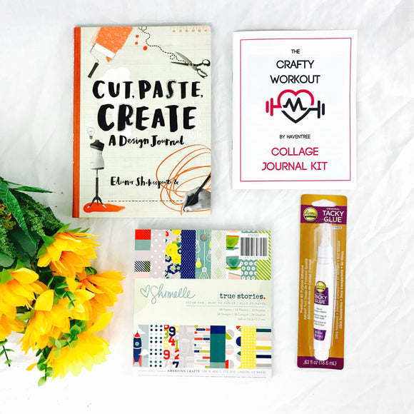 PRACTICALLY PERFECT Cut, Paste, Create Collage Journal Kit - HavenTree - The Self Care Shop
