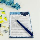 How to Help Memo Pad - HavenTree - The Self Care Shop
