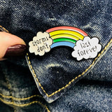 Storms Don't Last Enamel Pin - HavenTree - The Self Care Shop