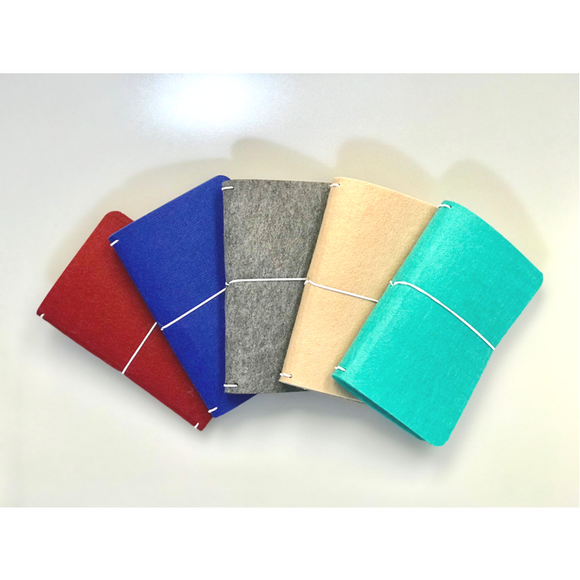 K.Y.S.T. Felt Traveler's Notebook Cover + 3 Notebooks - HavenTree - The Self Care Shop