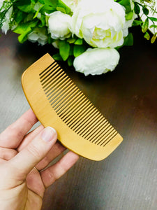 Peach Wood Comb - HavenTree - The Self Care Shop